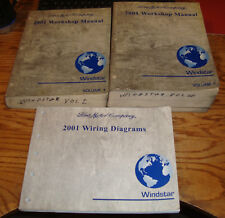 2001 Ford Windstar Shop Service Manual 1 & 2 + Wiring Diagrams Set 01
