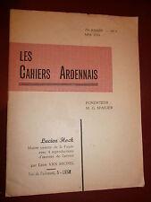Les cahiers Ardennais Van Michel Lucien Hocck Peintre de la Fagne Avec envoi