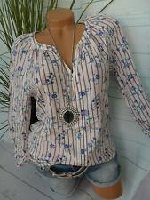 Esprit Shirt Bluse Damen Gr. S bis XXL gemustert Gummizug unten (501) NEU