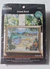 Island Boat Beach Plaid Bucilla Counted Cross Stitch Kit Paul Brent WM45633 New