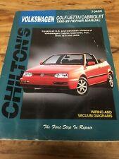 Chilton Volkswagen Golf/Jetta/Cabriolet 1990-99 Repair Manual #70402