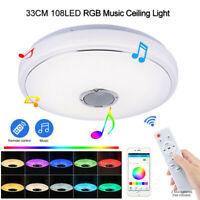 60W Bluetooth Speaker Ceiling Light LED Music Remote Control RGB Lamp KTV Home
