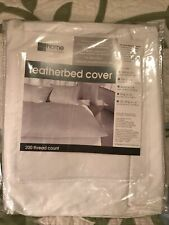 Jc Penney Home Featherbed Cover Zippered Full Size 200 Thread Count New