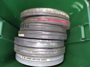 "Lot of 9 1950's - 60's Metal Kodak 16mm Film Cans 12.5"" to 15.5"" 050621DBRC"