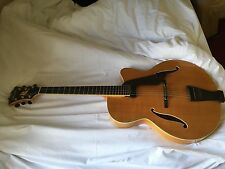 Peerless Imperial Jazz Archtop Guitar Natural Blonde Finish