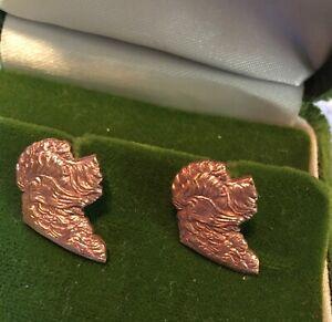 Unworn Handmade Silver/Copper Cockerpoo, Havapoo, Maltipoo Dog Stud Earrings