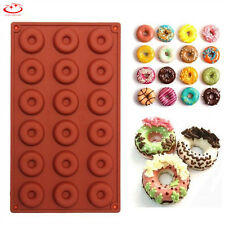 3D Silicone Donut Muffin Chocolate Cake Candy Cookie Cupcake Baking Mold Pan