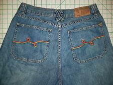Lr geans LRG roots people 34 x 12  jean shorts baggy loose blue embroidered