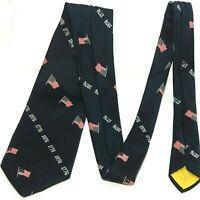 Vtg 1776 Patriotic Necktie Clubs Blanford Tie American Flag Bicentennial 54 in