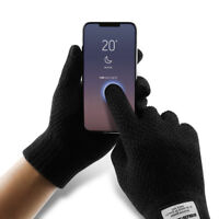 Mens Womens Touch Screen Gloves Soft Kintted Winter Warm Gloves For Smartphone