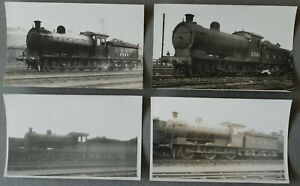 LNER EX NER CLASS J27 0-6-0 LOCOMOTIVES 2360 etc, 4 REAL PHOTO POSTCARDS
