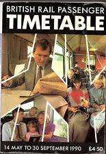 BRITISH RAIL ALL SERVICES 1990 PASSENGER TIMETABLE