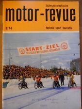 Tschechoslowakische MOTOR REVUE  3 - 1974 ** Skoda Tuning Barum Babetta Jawa CZ