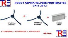 KIT SPAZZOLE + FILTRO HEPA ROBOT ASPIRAPOLVERE ARIETE PROFIMASTER 2711-2712