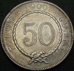 SARAWAK (Malaysia) 50 Cents 1900H - Silver - VF+ - 1188 ¤