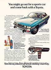 1973 Toyota Celica  Original Advertisement Print Art Car Ad J766