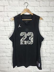 NEW Nike Air Jordan Black Mesh Jersey Size Large Snakeskin Print