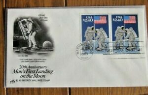 $4.80 SPACE MAN ON MOON APOLLO 11 20TH ANNIV 1989 CHRIS CALLE DESIGN ARTCRAFT FD