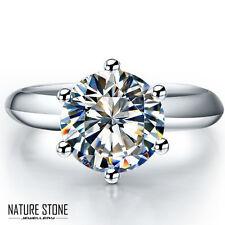 Round Cut White Diamond Fire Topaz Gemstone Silver Wedding Rings Sz 7 8 9