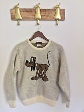 Vintage Jacobson And Sons Disney Pluto Knit Sweater, Wool, Size Large