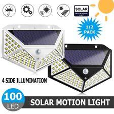 100LED Outdoor Solar Wall Lights Motion Sensor Waterproof Outside Garden Light