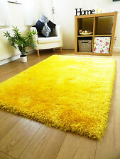 New Luxurious Thick Pile Rug Modern Soft Silky Contemporary Gy Rugs Mats Uk