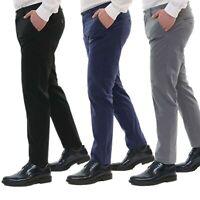 Pantaloni Uomo Estivi Cotone Chino Slim Fit Elegante Tasche America