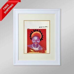 Andy Warhol -Queen Ntombi  Twala of Swazilan,Original Hand Signed Print with COA