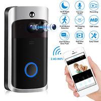 Wireless WiFi Smart DoorBell Video Phone Door Visual Intercom Secure Camera New