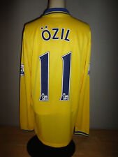 MESUT OZIL Nike ARSENAL FC Yellow FLY EMIRATES Soccer Jersey - Adult Size Medium