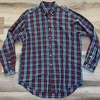 Ralph Lauren BLAKE Mens Medium Red Blue Green Plaid Button Down Shirt