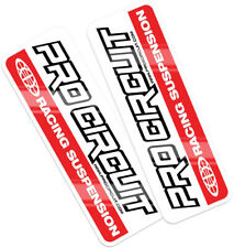 PRO CIRCUIT STANDARD STYLE UPPER FORK STICKERS DECALS KX KXF YZ YZF CR CRF RMZ