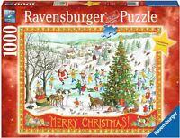 RAVENSBURGER CHRISTMAS PUZZLE*1000 T*WINTER WONDERLAND*WEIHNACHTEN*RARITÄT*OVP