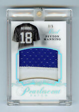 Peyton Manning 2017 Leaf Pearl Pearlescent Patch 3/5 Insert Card Jersey 2018 Jsy