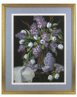 Dimensions Crewel Embroidery Kit Lilacs And Lace 1529 on Printed Cotton