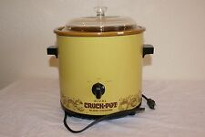 Vtg Rival Crockpot Slow Cooker Avocado Green 3.5 Quart Retro Works Great