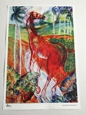 Cuban painting collection.Out of print.Carlos Enriquez.Horse of Fire.Room Decor