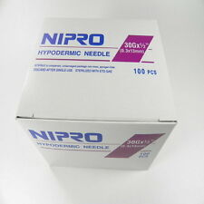 "Nipro 30G x 1/2  "" Hypodermic Needle(0.3x13mm) Sterile Single Needle 100 /Box"