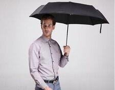 Black Unisex 3 Fold Compact Umbrella Manual Open