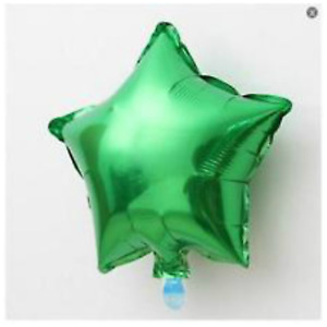 Green Plain Coloured Star Foil Balloons Party Helium Quality Birthday Wedding
