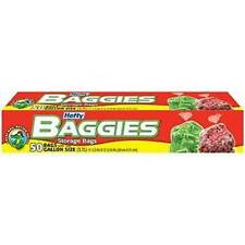 50 count Gallon Twist Tie Hefty Baggies Storage Bags Printed Suffocation Warning