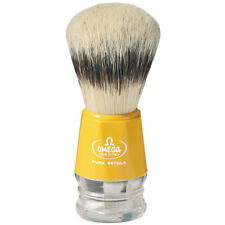 Omega Pig Bristles Shaving Brush Yellow Pure Natural Made IN Italy