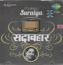 SURAIYA - SADABAHAR - NEW SARE GAMA BOLLYWOOD FILM CD SONGS - FREE UK POST
