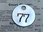 Number 77 Tag Aluminum Metal Numbered Keychain Stamped Token Fob Mining Check