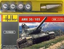Heller AMX 30/105 TANK MODEL KIT + Colour Paintbrush Adhesive 1:72 Set Solid