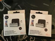 2 New Blue Charge and Sync Dock Station for Samsung, LG, HTC,