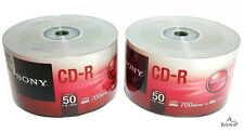 100 SONY Blank CD-R CDR Logo Branded 48X 700MB 80min Recordable Media Disc