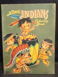 "Vintage 1960 ""Little Indians"" Whitman Coloring Book! Unused!"
