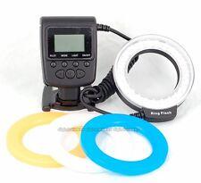 RF550D Macro 48pcs LED Ring Flash Light For Canon Nikon Pentax Olympus Panasonic