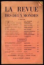 █ LA REVUE DES DEUX MONDES du 1er mars 1962 █